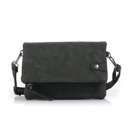 Ook-leuk  Dubbel heup- schoudertasje Bora, zwart