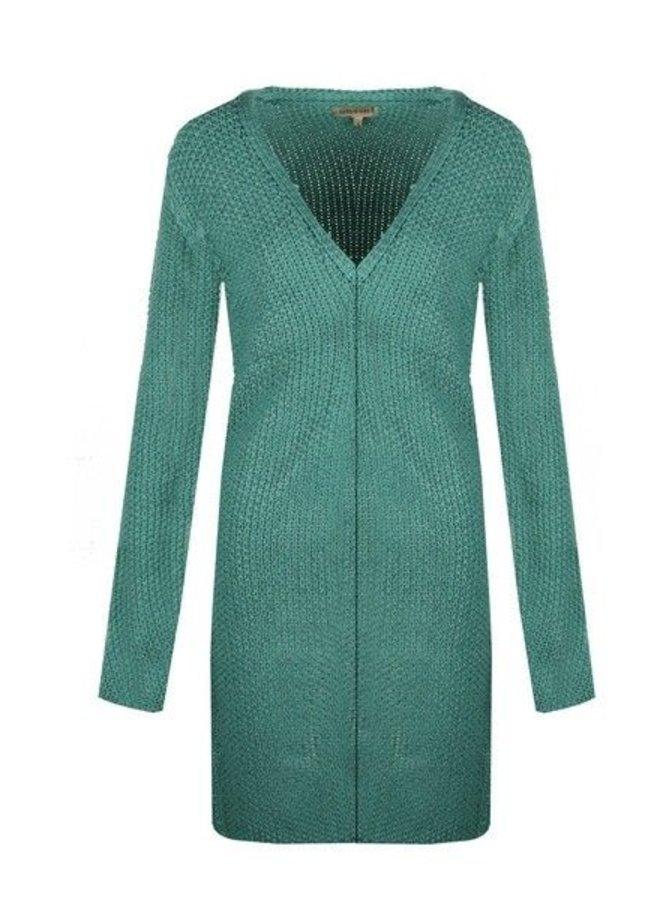 dames vest, mint groen