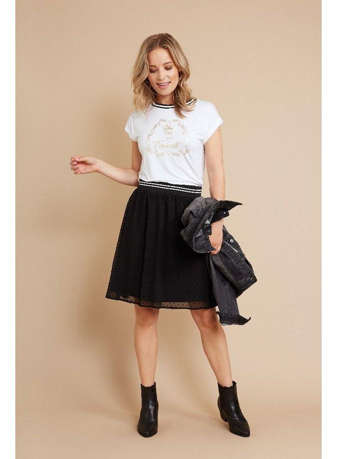 Shirt wit met tekst, maat:M