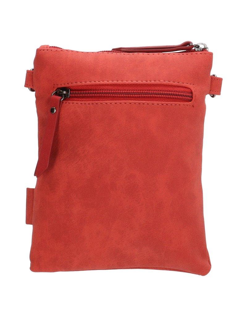 Beagles tassen Beagles Pequeno schoudertasje met klep, rood