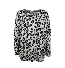 Overige Dames trui met luipaardprint