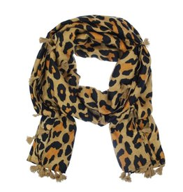 """Overige Dames sjaal """"Zaire"""" met print, camel"""