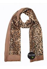 Overige Super zachte sjaal in tijgerprint, taupe