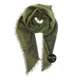 Overige Sjaal met sterren, groen