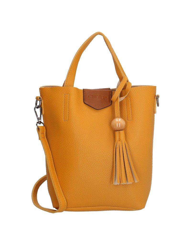 Charm charm london covent klein  handtasje S, oker geel