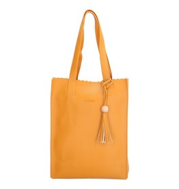 Charm charm London Covent Garden shopper, oker geel