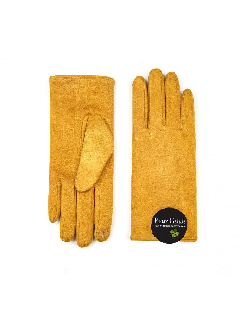 Overige Handschoenen dames, okergeel