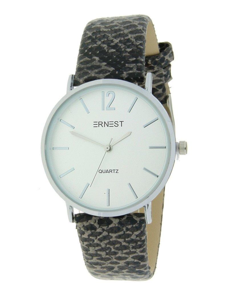 """Ernest ernest horloge """"Silver-Andrea-Python"""" grijs"""