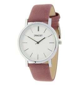 Ernest Ernest horloge silver-Andrea, oud roze