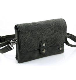 Ook-leuk  heuptasje zwart  / schoudertasje Ulm