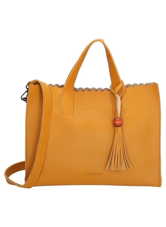 Charm London Covent Garden handtas dames, oker geel