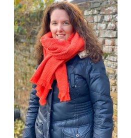 Overige Sjaal effen oranje/rood