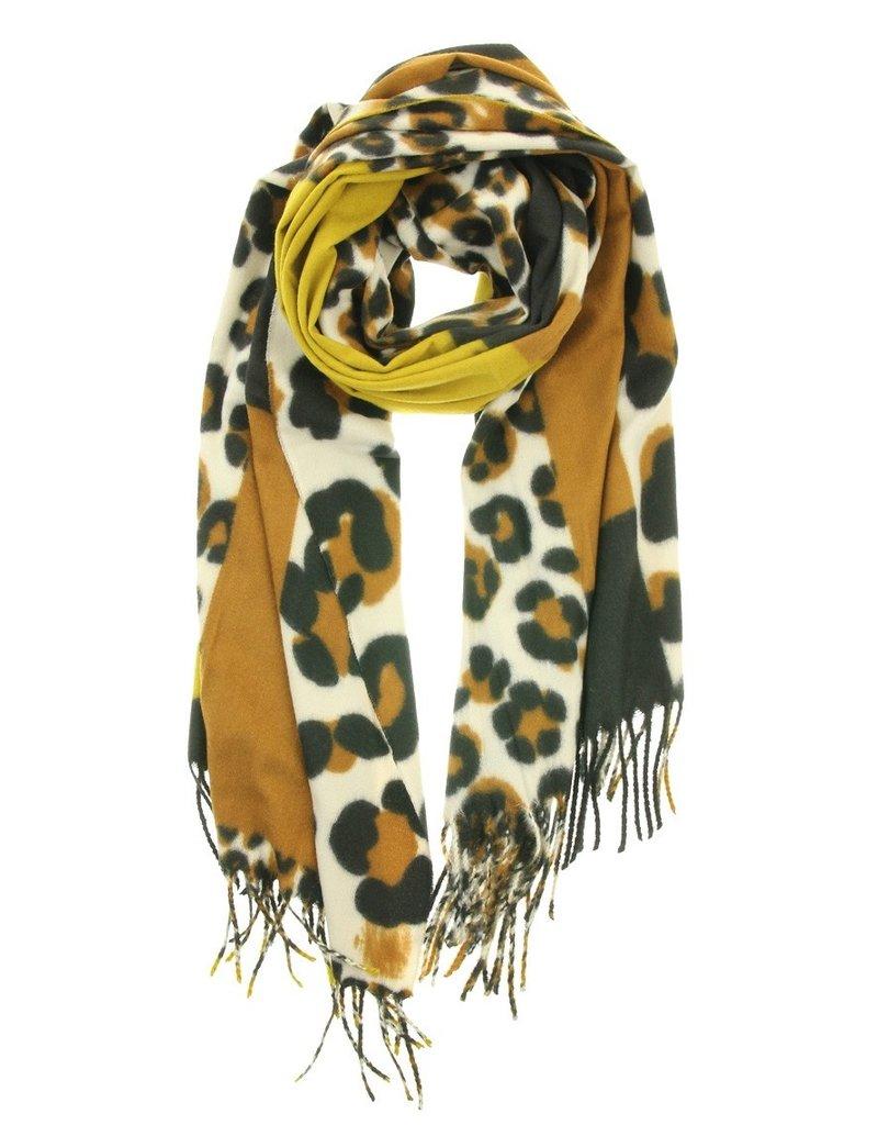 Overige Ultra zachte sjaal in dierenprint, geel