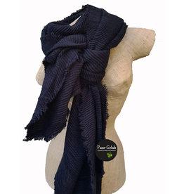 Overige Dames sjaal effen streep, zwart