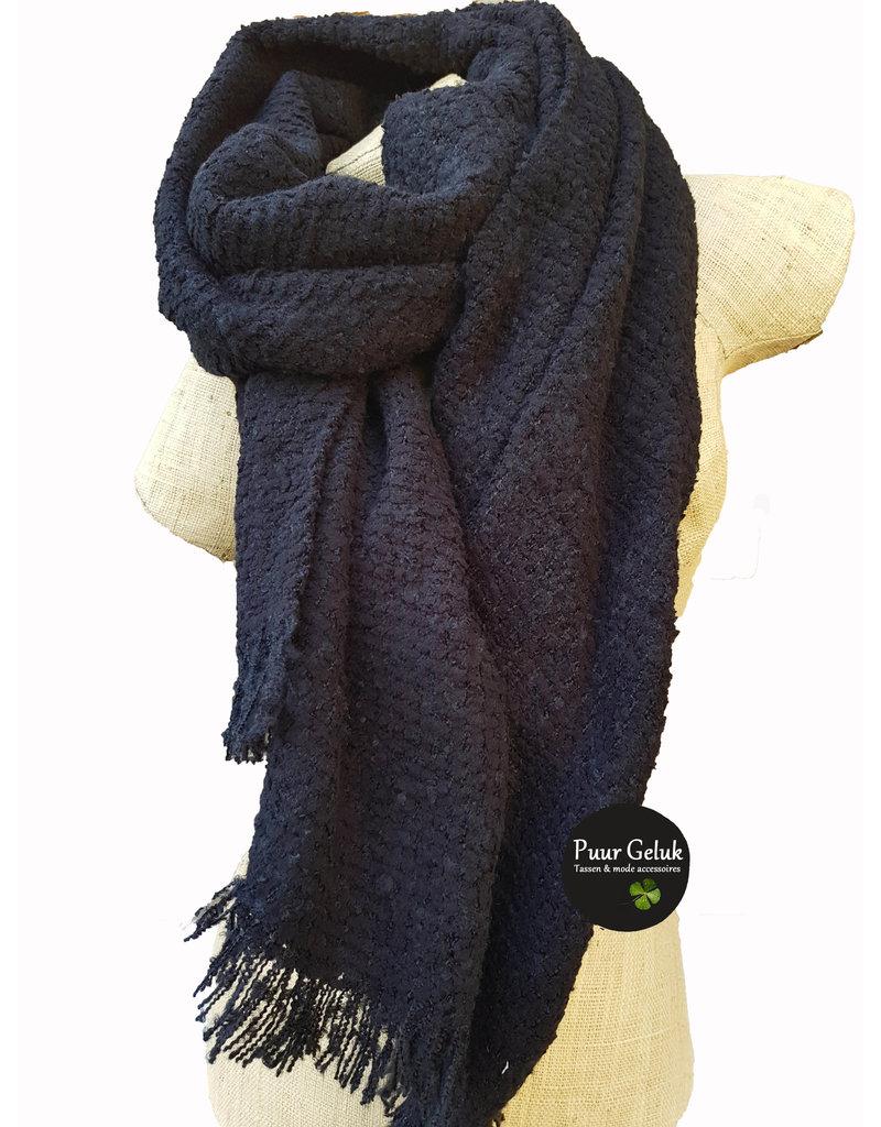 Overige Zwarte dames sjaal effen