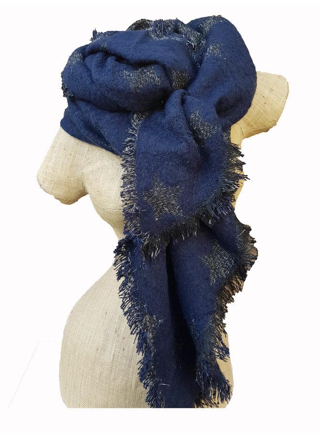 Sterren sjaal, blauw