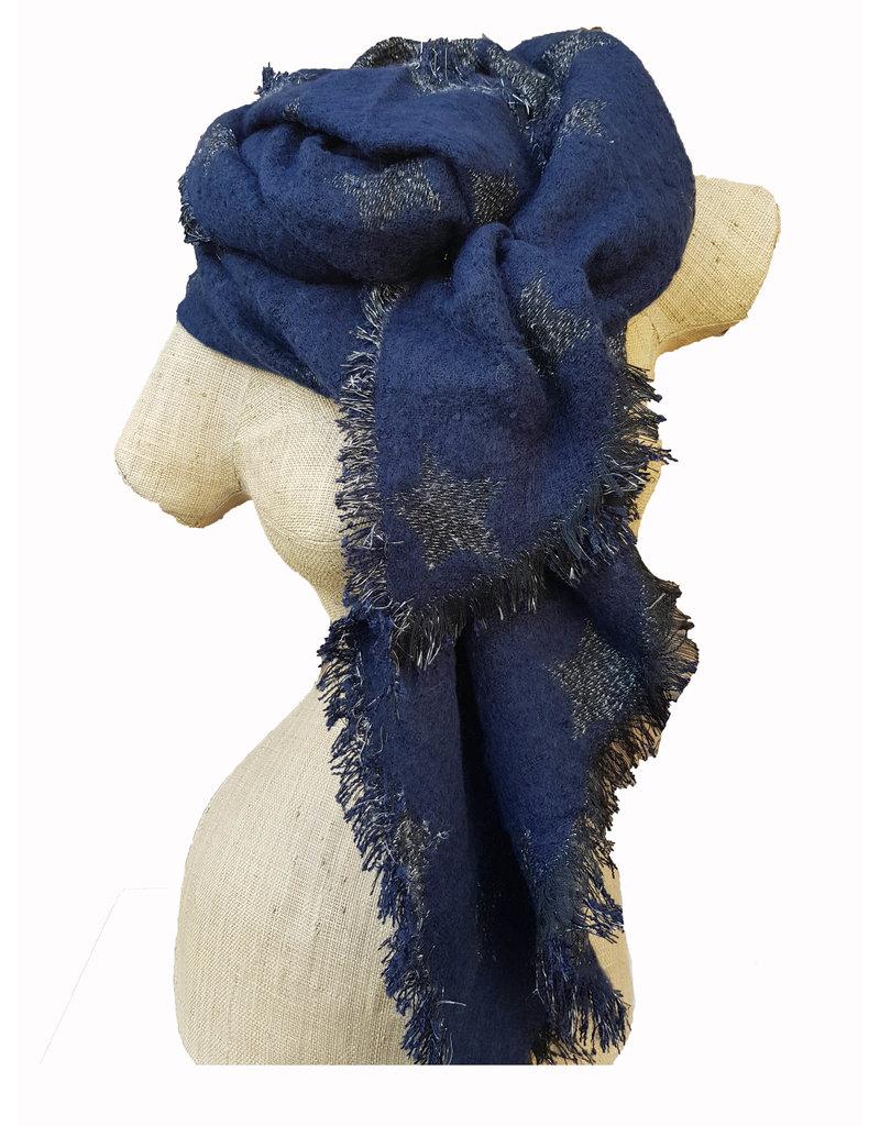 Overige Sterren sjaal, blauw