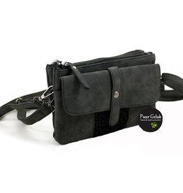 Ook-leuk  Zwart schoudertasje / heuptasje St. Joost