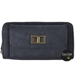 Mandoline Mandoline dames portemonnee met voorvak, blauw