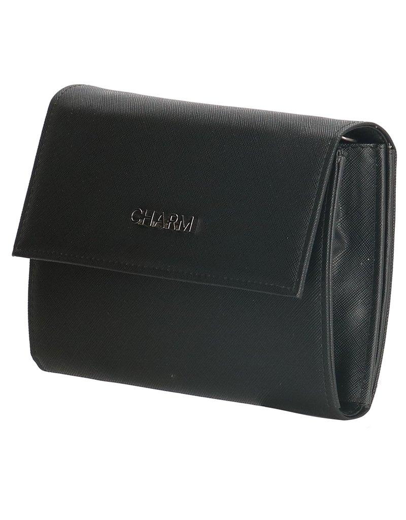 Charm Charm london clutch/schoudertasje, zwart