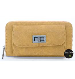 Mandoline Mandoline dames portemonnee met voorvak, geel