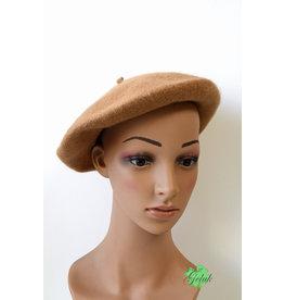 Overige Hippe baret, camel