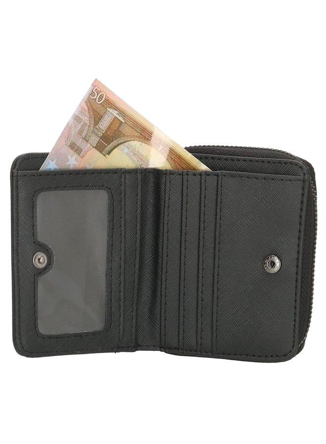 Zwarte portemonnee klein, Beagles Barcelona