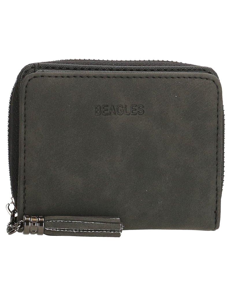 Beagles tassen Zwarte portemonnee klein, Beagles Barcelona