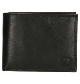 Double D Lederen RFID portemonnee, zwart