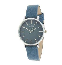 Ernest Ernest horloge Silver-Cindy-Medium,  blauw