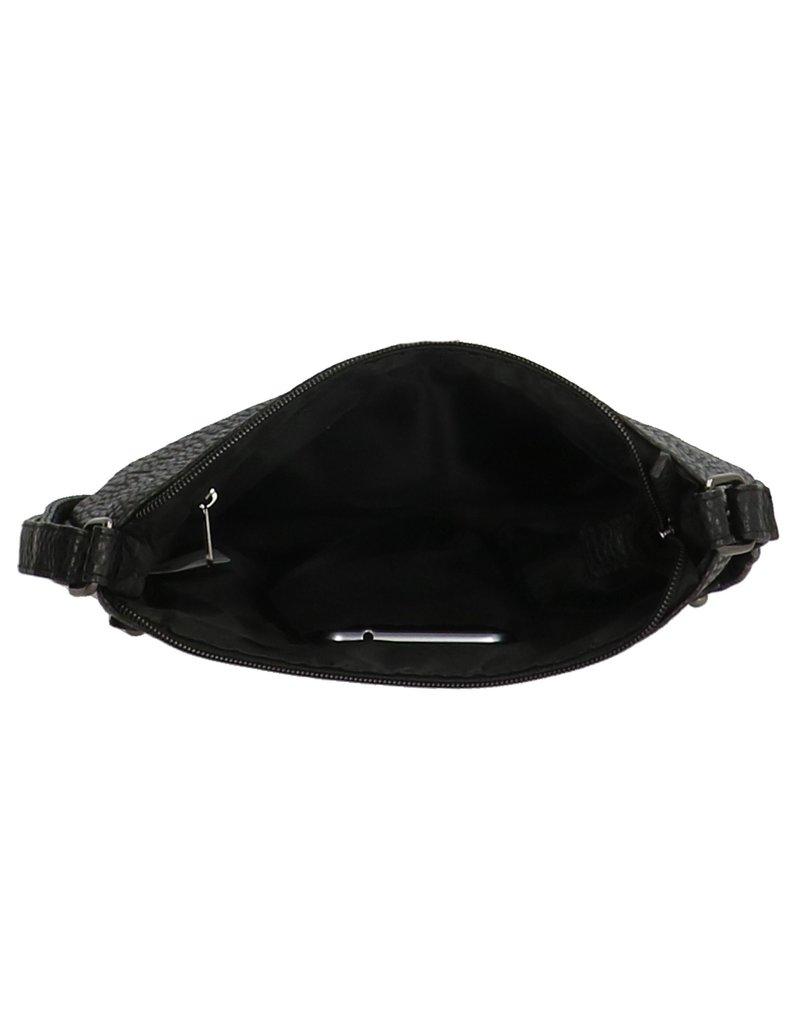 Charm Zwart schoudertasje relief Charm