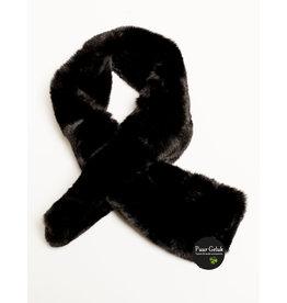 Overige Nep bont sjaal, zwart