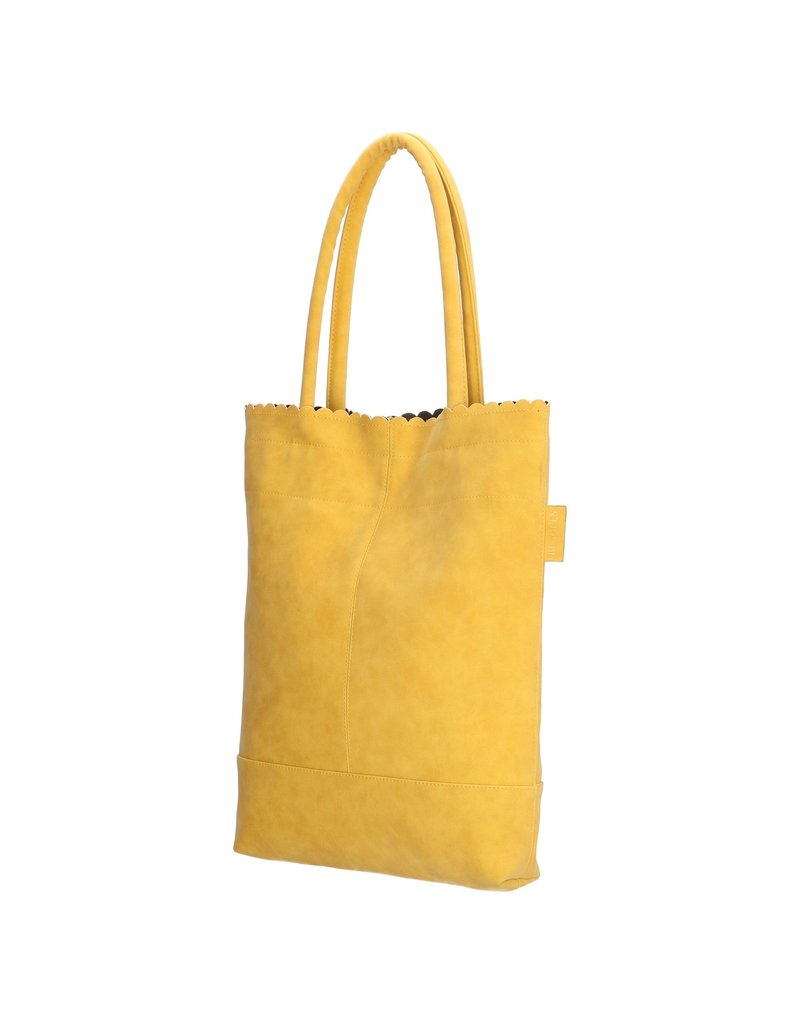Beagles tassen Beagles shopper tas met etui,  geel