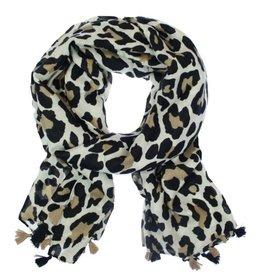 """Overige Sjaal dames  """"Zion"""" met tijgerprint"""