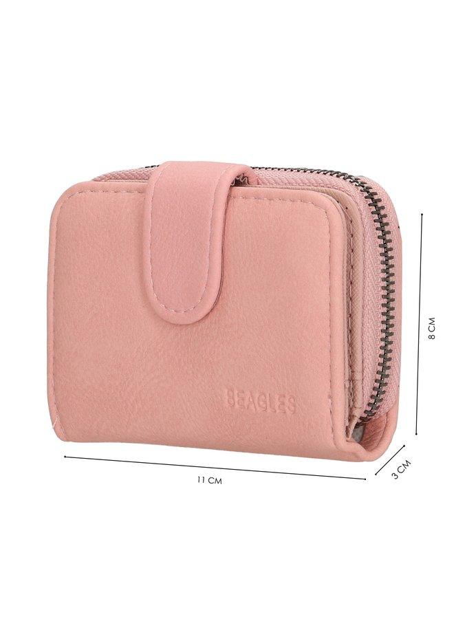 Beagles  kleine portemonnee, roze