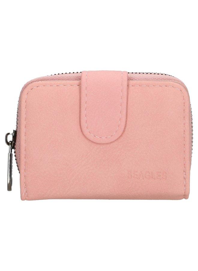 Beagles  klein portemonneetje, roze
