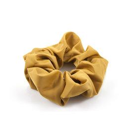Ook-leuk  Gele  effen haarelastiek / scrunchie