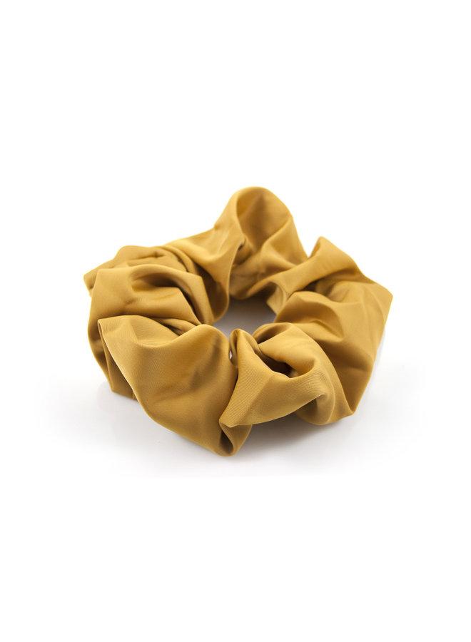 Gele  effen haarelastiek / scrunchie