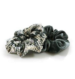 Ook-leuk  set scrunchies grijs / snake