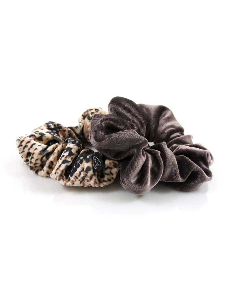 Ook-leuk  set scrunchies taupe  / snake