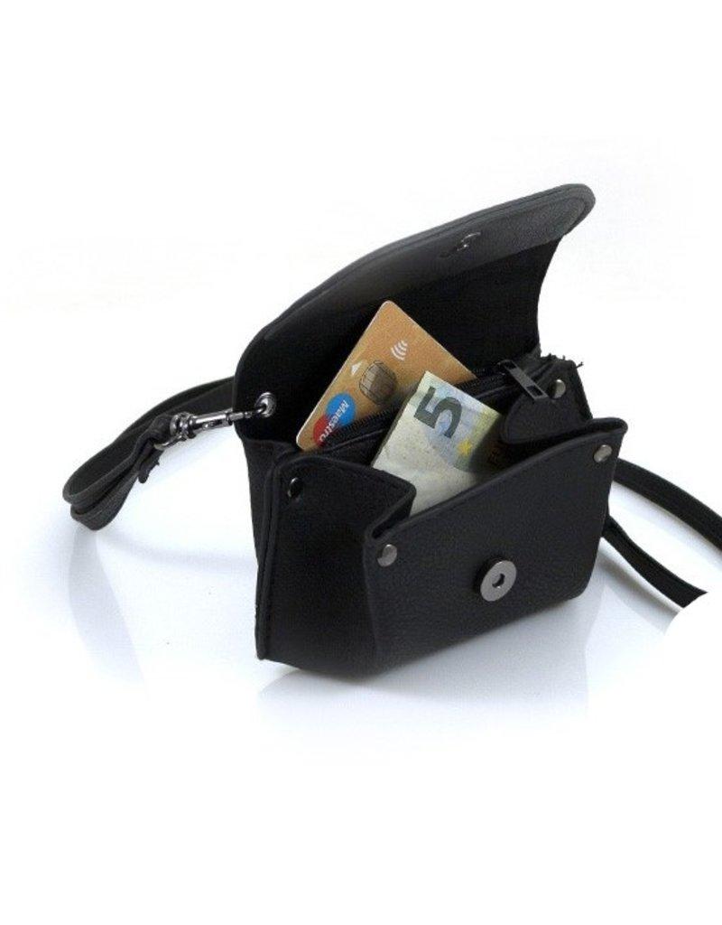 "Ook-leuk  Zwarte kleine portemonnee ""Andel"""