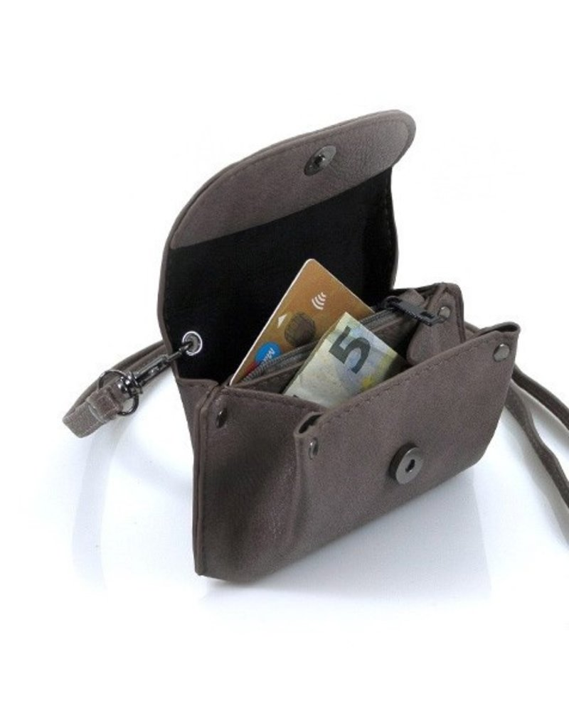 "Ook-leuk  Kleine portemonnee ""Andel"" grijs"