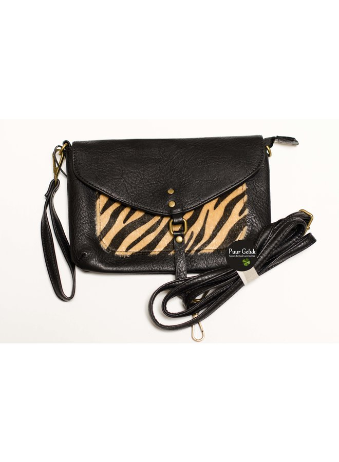 Mandoline schoudertas met zebra print
