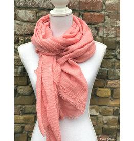 Overige Dames sjaal, effen roze