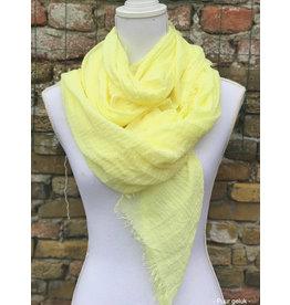 Overige Dames sjaal, zacht geel