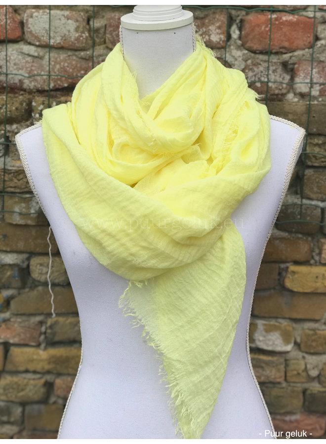 Dames sjaal, zacht geel