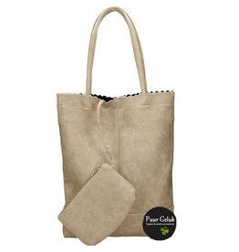Beagles tassen Beagles shopper / shopper tas met etui, licht taupe