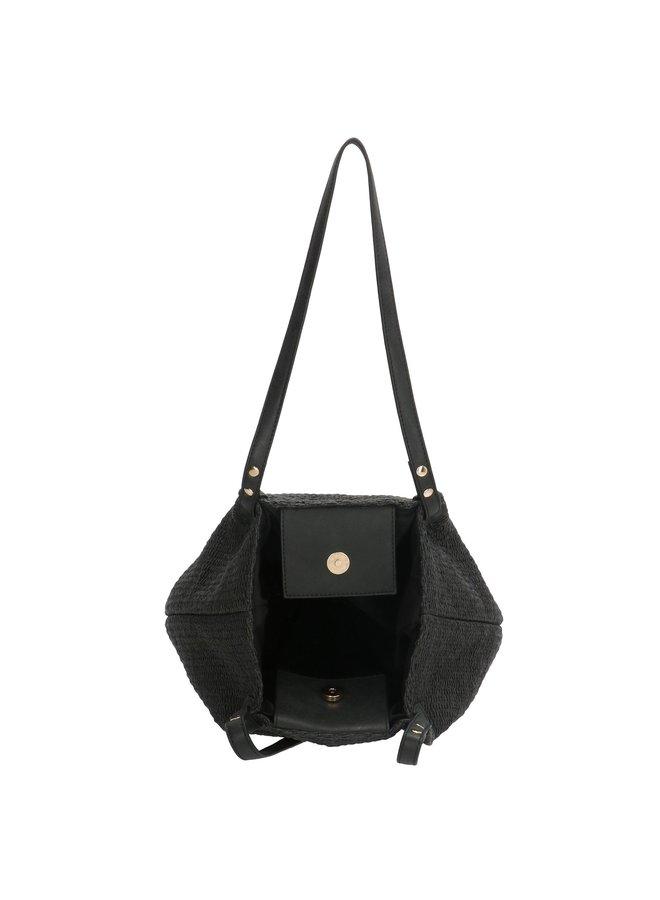 Zwarte PE-Florence shopper tas