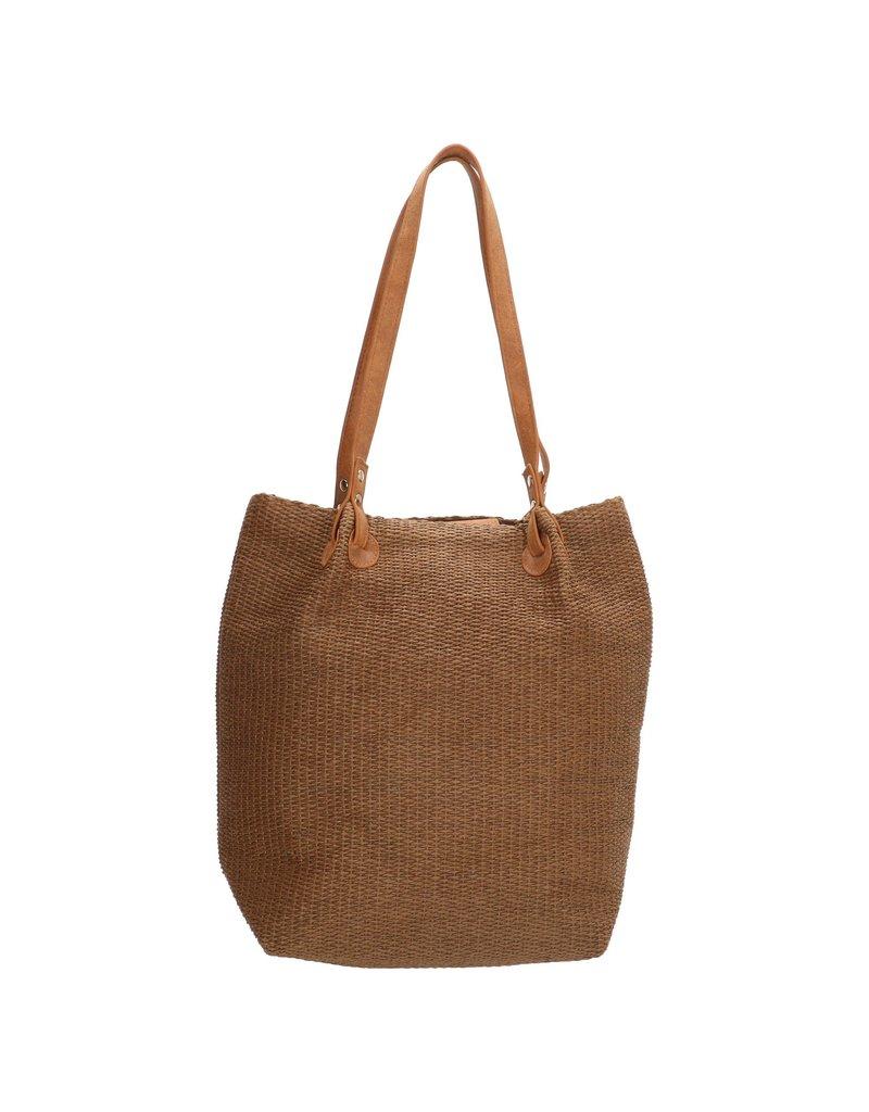 PE-Florence PE-Florence shopper tas / rieten tas, bruin
