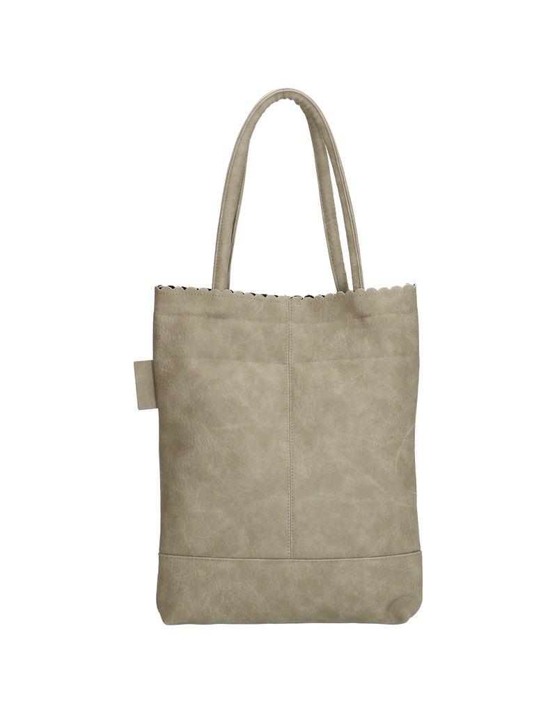Beagles tassen Beagles shopper tas met etui, licht grijs